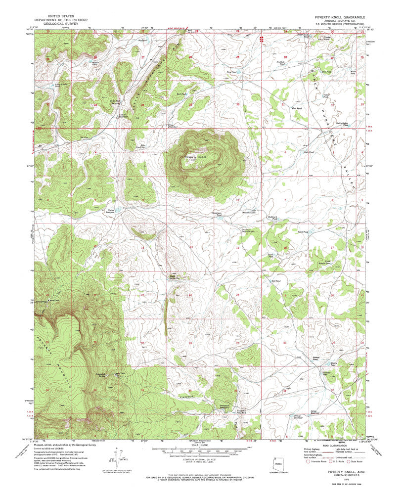 us topo - POVERTY KNOLL, Arizona 7.5' - Wide World Maps & MORE! - Map - Wide World Maps & MORE! - Wide World Maps & MORE!