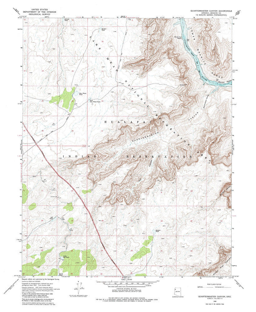 us topo - QUARTERMASTER CANYON, Arizona 7.5' - Wide World Maps & MORE! - Map - Wide World Maps & MORE! - Wide World Maps & MORE!