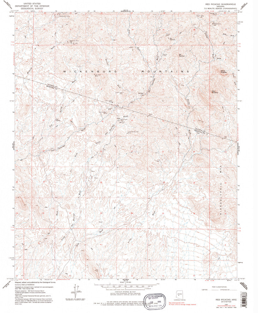 Red Picacho, Arizona (7.5'×7.5' Topographic Quadrangle)