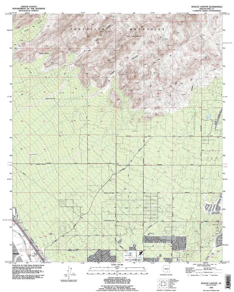us topo - RUELAS CANYON, Arizona 7.5' - Wide World Maps & MORE! - Map - Wide World Maps & MORE! - Wide World Maps & MORE!