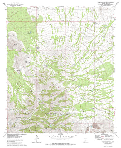 us topo - SAMANIEGO PEAK, Arizona 7.5' - Wide World Maps & MORE! - Map - Wide World Maps & MORE! - Wide World Maps & MORE!