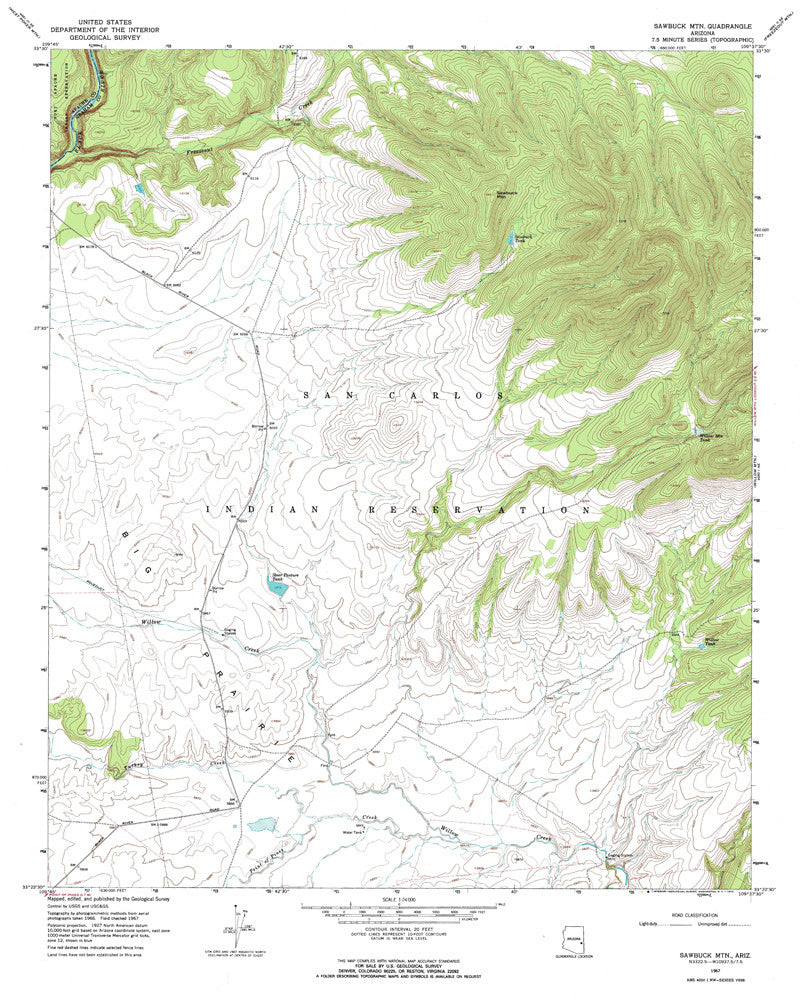 us topo - SAWBUCK MOUNTAIN, Arizona 7.5' - Wide World Maps & MORE! - Map - Wide World Maps & MORE! - Wide World Maps & MORE!