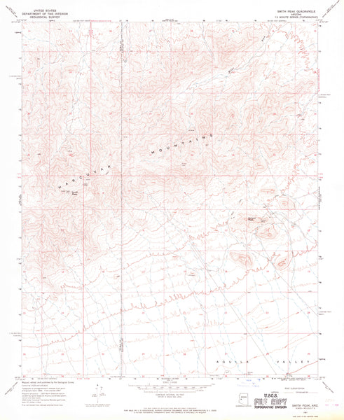SMITH PEAK, Arizona (7.5'×7.5' Topographic Quadrangle) - Wide World Maps & MORE! - Map - Wide World Maps & MORE! - Wide World Maps & MORE!