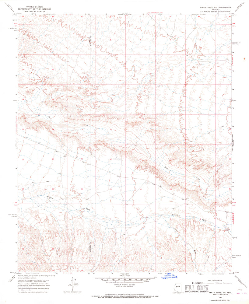 SMITH PEAK NE, Arizona (7.5'×7.5' Topographic Quadrangle)