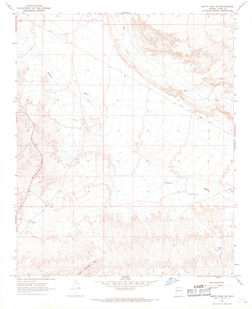 SMITH PEAK NW, Arizona (7.5'×7.5' Topographic Quadrangle)