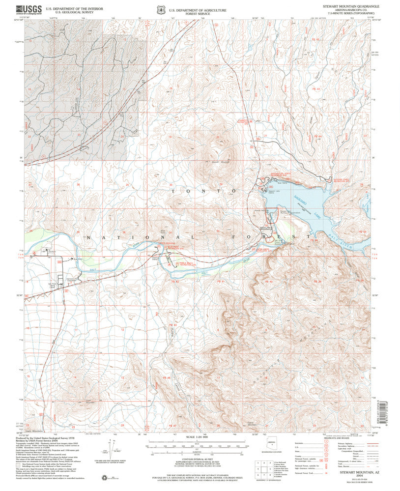 us topo - Stewart Mountain, AZ 7.5' - Wide World Maps & MORE! - Map - Wide World Maps & MORE! - Wide World Maps & MORE!