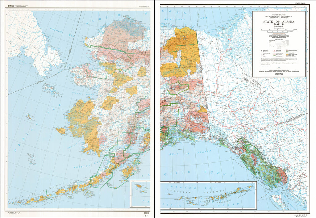 State of Alaska, Map B: Base Map with Highways and Contours - Wide World Maps & MORE! - Map - United States Geological Survey - Wide World Maps & MORE!