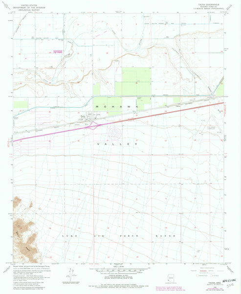 TACNA, Arizona (7.5'×7.5' Topographic Quadrangle) - Wide World Maps & MORE! - Map - Wide World Maps & MORE! - Wide World Maps & MORE!