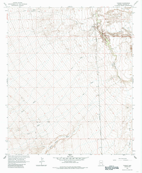 us topo - TANQUE, Arizona (7.5'×7.5' Topographic Quadrangle) - Wide World Maps & MORE! - Map - Wide World Maps & MORE! - Wide World Maps & MORE!