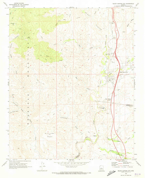 us topo - Black Canyon City, Arizona (7.5'×7.5' Topographic Quadrangle) - Wide World Maps & MORE! - Map - Wide World Maps & MORE! - Wide World Maps & MORE!