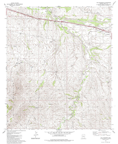 us topo - THE NARROWS, Arizona 7.5' - Wide World Maps & MORE! - Map - Wide World Maps & MORE! - Wide World Maps & MORE!