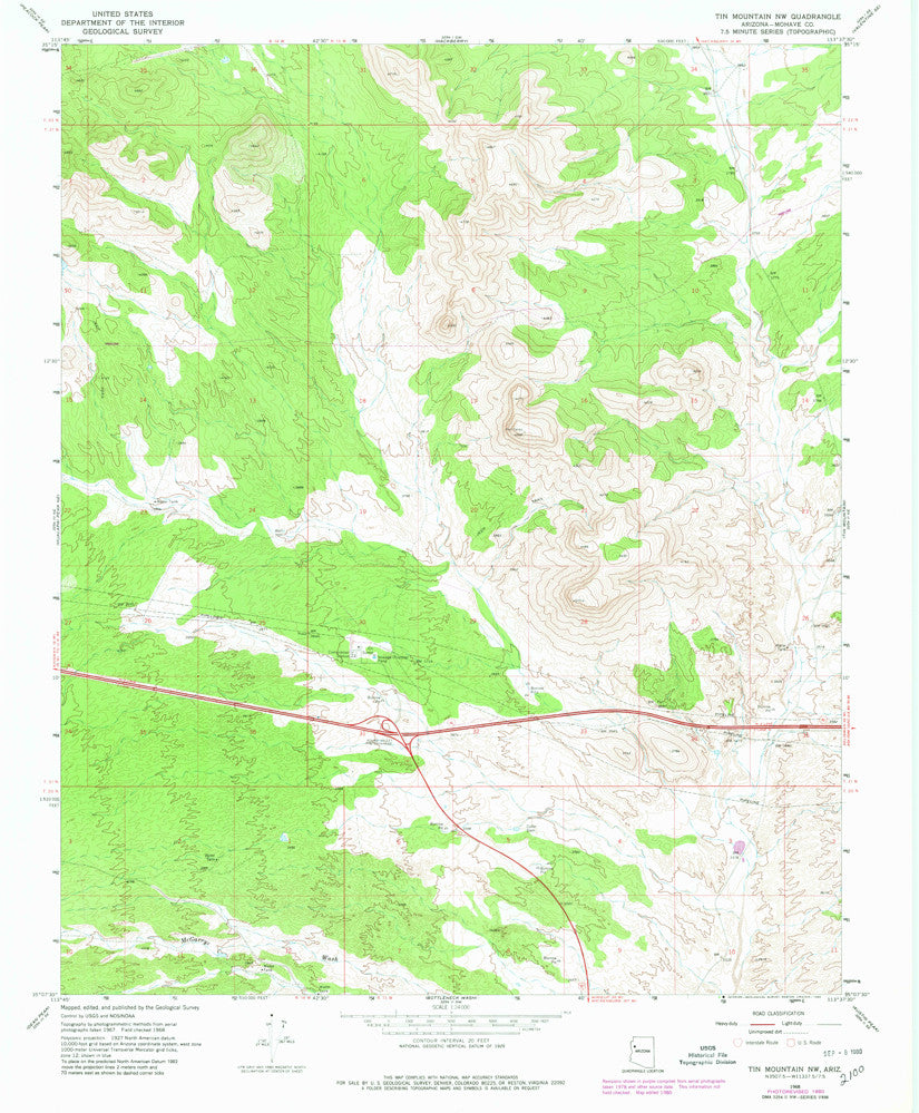 TIN MOUNTAIN NW, Arizona (7.5'×7.5' Topographic Quadrangle) - Wide World Maps & MORE!