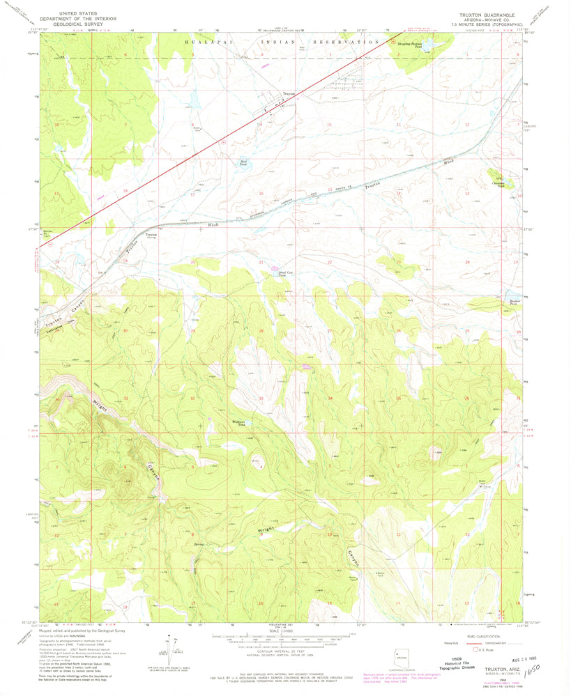 TRUXTON, Arizona (7.5'×7.5' Topographic Quadrangle) - Wide World Maps & MORE! -  - Wide World Maps & MORE! - Wide World Maps & MORE!