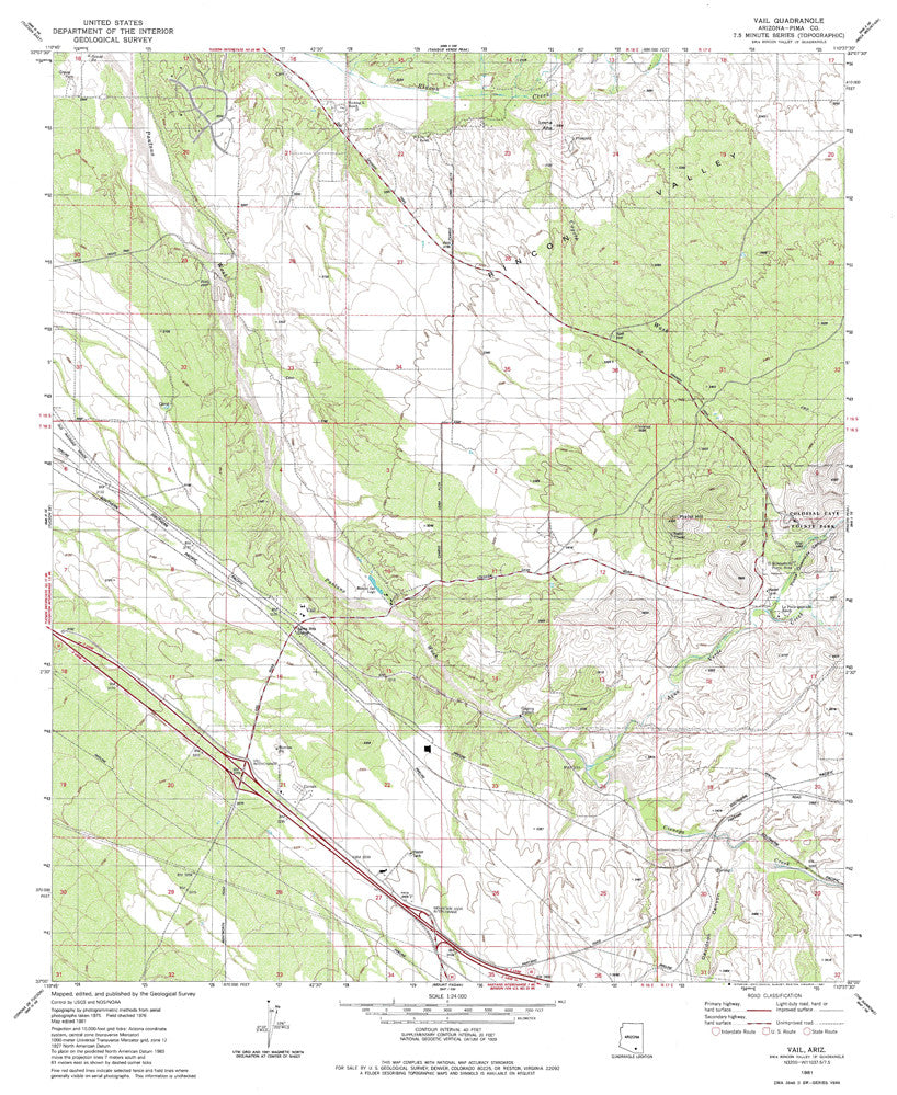 us topo - VAIL, Arizona 7.5' - Wide World Maps & MORE! - Map - Wide World Maps & MORE! - Wide World Maps & MORE!