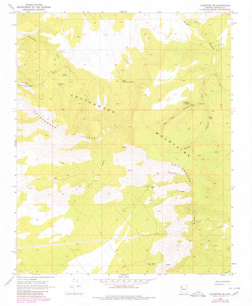 us topo - VALENTINE SE, Arizona (7.5'×7.5' Topographic Quadrangle) - Wide World Maps & MORE! - Map - Wide World Maps & MORE! - Wide World Maps & MORE!
