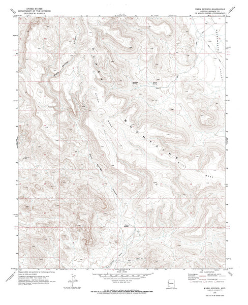 WARM SPRINGS, Arizona 7.5' - Wide World Maps & MORE! - Map - Wide World Maps & MORE! - Wide World Maps & MORE!
