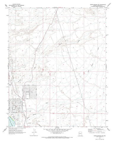 us topo - WARM SPRINGS SW, Arizona 7.5' - Wide World Maps & MORE! - Map - Wide World Maps & MORE! - Wide World Maps & MORE!