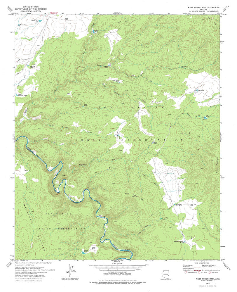 us topo - WEST POKER MOUNTAIN 7.5', Arizona - Wide World Maps & MORE! - Map - Wide World Maps & MORE! - Wide World Maps & MORE!