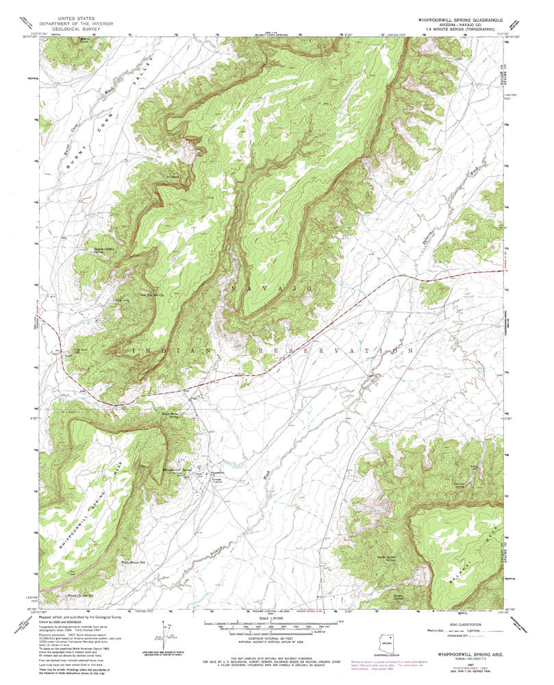 us topo - WHIPPOORWILL SPRING, Arizona 7.5' - Wide World Maps & MORE! - Map - Wide World Maps & MORE! - Wide World Maps & MORE!