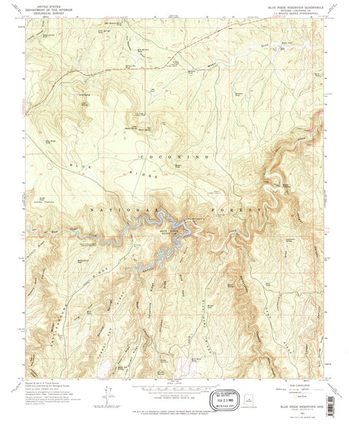 us topo - Blue Ridge Reservoir, Arizona (7.5'×7.5' Topographic Quadrangle) - Wide World Maps & MORE! - Map - Wide World Maps & MORE! - Wide World Maps & MORE!
