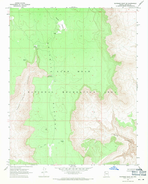 us topo - WHITMORE POINT SW, Arizona 7.5' - Wide World Maps & MORE! - Map - Wide World Maps & MORE! - Wide World Maps & MORE!