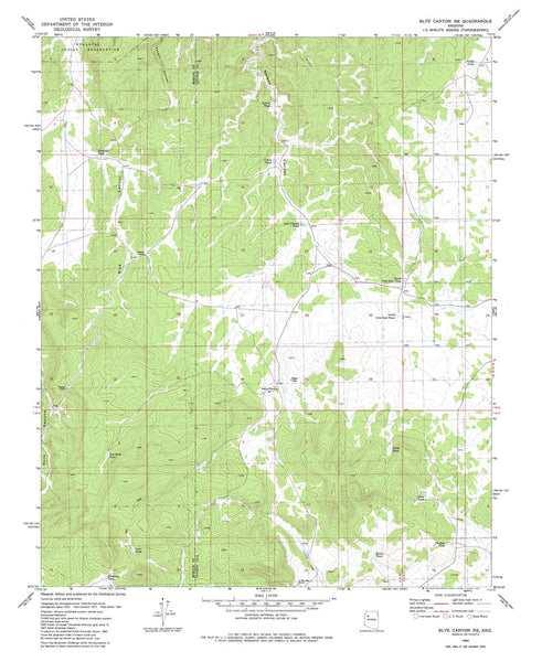 us topo - BLYE CANYON NE, Arizona 7.5' - Wide World Maps & MORE! - Map - Wide World Maps & MORE! - Wide World Maps & MORE!