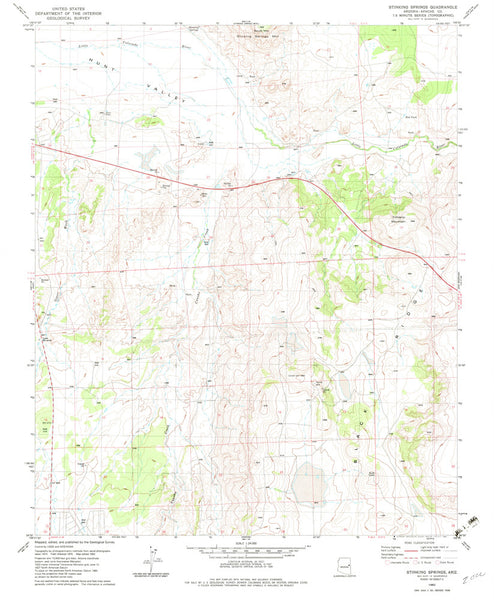 STINKING SPRINGS, Arizona (7.5'×7.5' Topographic Quadrangle) - Wide World Maps & MORE!