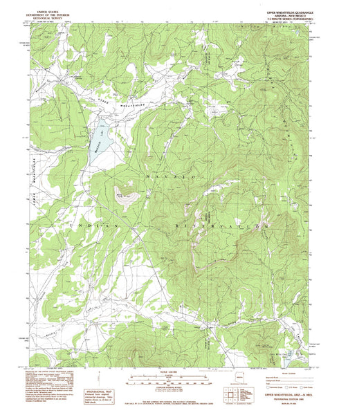 us topo - UPPER WHEATFIELDS, Arizona 7.5' - Wide World Maps & MORE! - Map - Wide World Maps & MORE! - Wide World Maps & MORE!