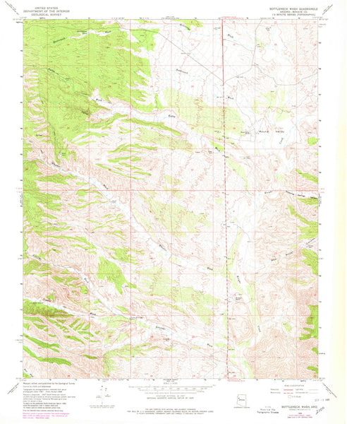 us topo - BOTTLENECK WASH, Arizona (7.5'×7.5' Topographic Quadrangle) - Wide World Maps & MORE! - Map - Wide World Maps & MORE! - Wide World Maps & MORE!