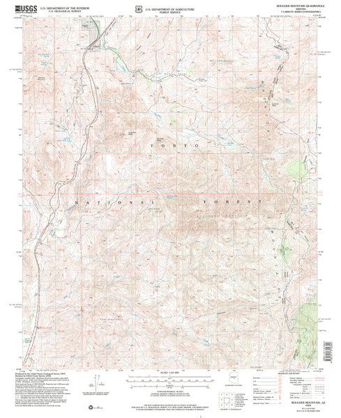 Boulder Mountain, Arizona (7.5'×7.5' Topographic Quadrangle) - Wide World Maps & MORE! - Map - Wide World Maps & MORE! - Wide World Maps & MORE!