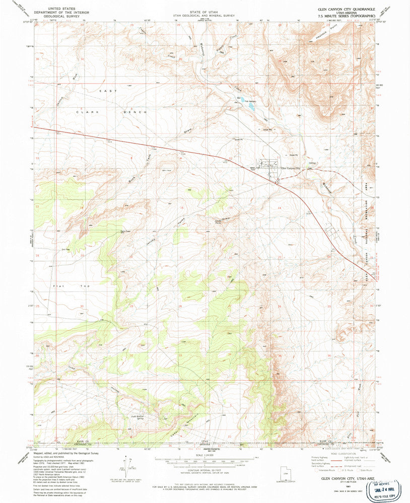 us topo - GLEN CANYON CITY, UT-AZ 7.5' - Wide World Maps & MORE! - Map - Wide World Maps & MORE! - Wide World Maps & MORE!