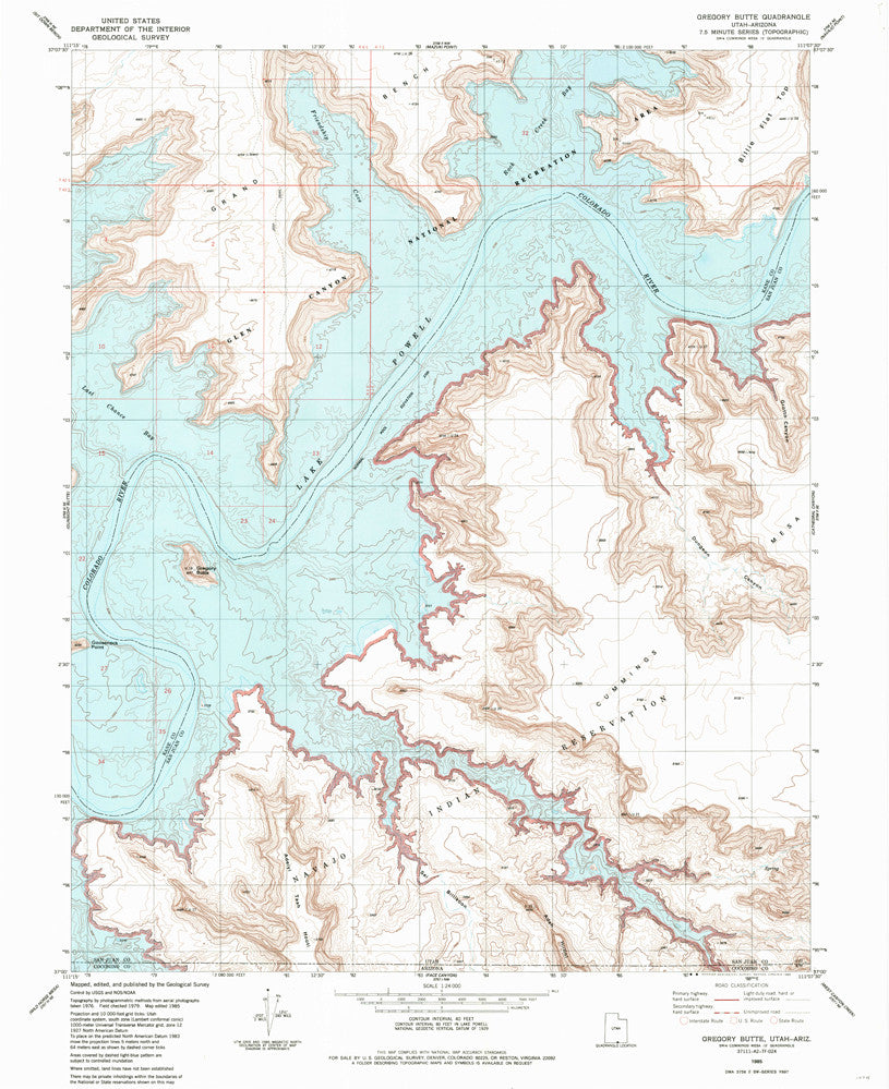 us topo - GREGORY BUTTE, UT-AZ 7.5' - Wide World Maps & MORE! - Map - Wide World Maps & MORE! - Wide World Maps & MORE!
