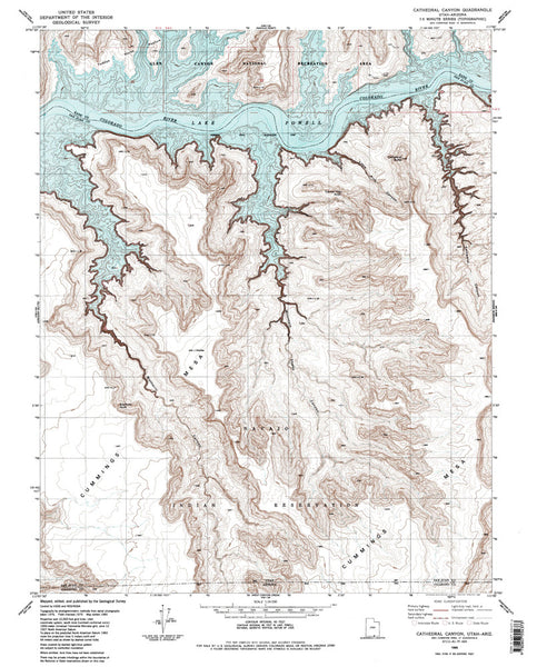 us topo - CATHEDRAL CANYON, UT-AZ 7.5' - Wide World Maps & MORE! - Map - Wide World Maps & MORE! - Wide World Maps & MORE!