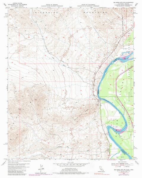 us topo - BIG MARIA MTS NE, CA-AZ 7.5' - Wide World Maps & MORE! - Map - Wide World Maps & MORE! - Wide World Maps & MORE!