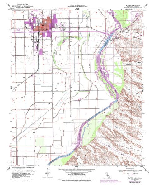 BLYTHE, California-Arizona 7.5' - Wide World Maps & MORE! - Map - Wide World Maps & MORE! - Wide World Maps & MORE!