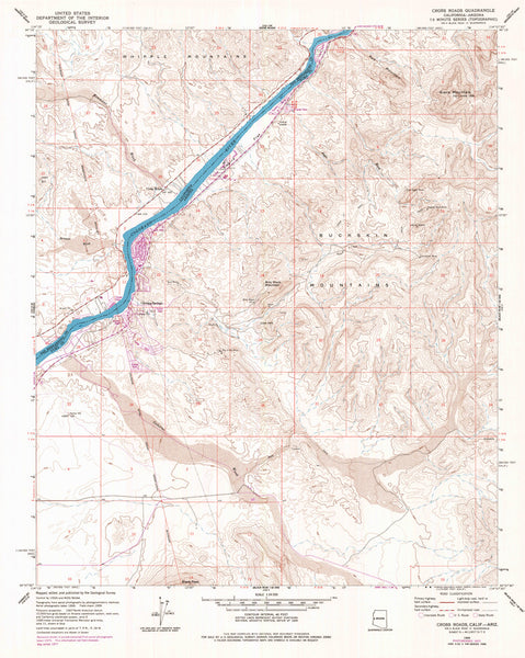 CROSS ROADS, CA-AZ (7.5'×7.5' Topographic Quadrangle) - Wide World Maps & MORE!
