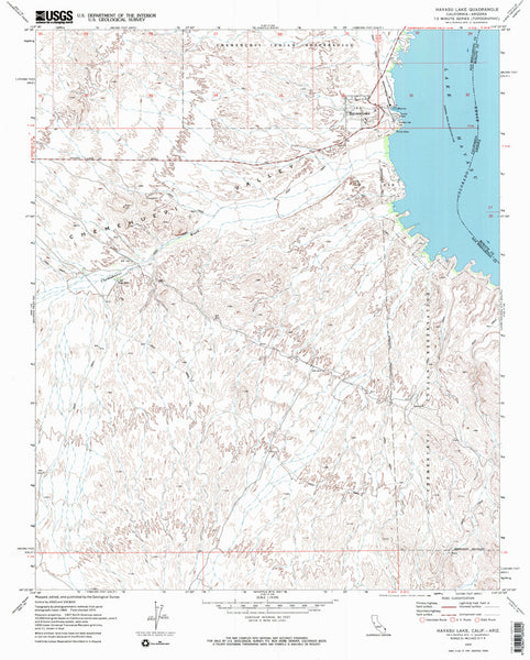 us topo - HAVASU LAKE, CA-AZ 7.5' - Wide World Maps & MORE! - Map - Wide World Maps & MORE! - Wide World Maps & MORE!