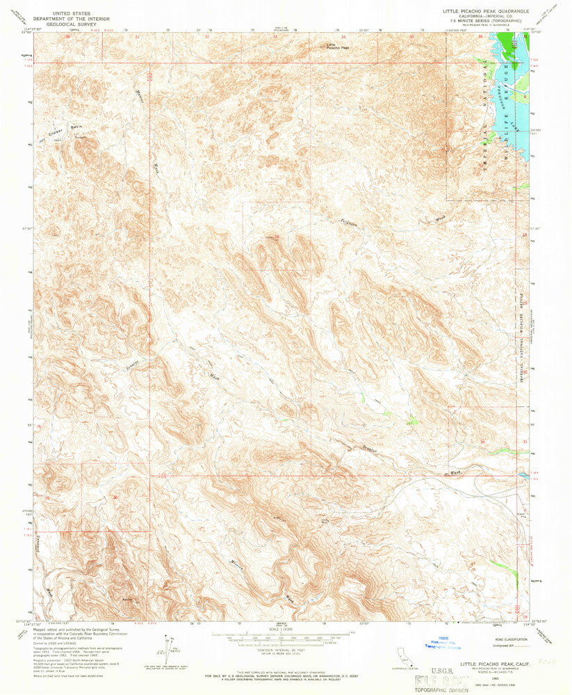 LITTLE PICACHO PEAK, CA (7.5'×7.5' Topographic Quadrangle)