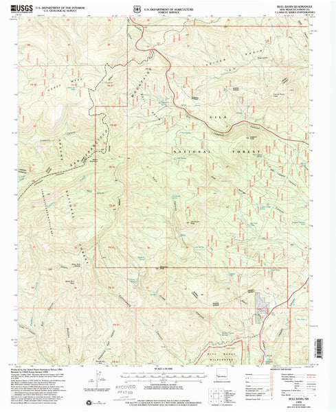 us topo - BULL BASIN, NM 7.5' - Wide World Maps & MORE! - Map - Wide World Maps & MORE! - Wide World Maps & MORE!