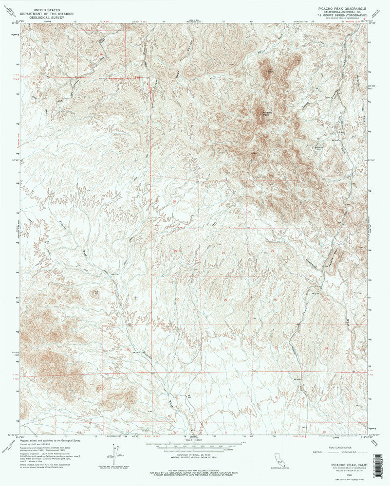 us topo - PICACHO PEAK, CA (7.5'×7.5' Topographic Quadrangle) - Wide World Maps & MORE! - Map - Wide World Maps & MORE! - Wide World Maps & MORE!