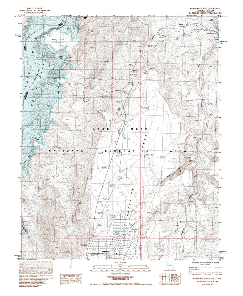 MEADVIEW NORTH, Arizona-Nevada 7.5' - Wide World Maps & MORE!
