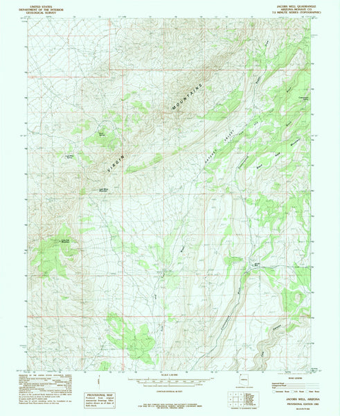 us topo - JACOBS WELL, Arizona (7.5'×7.5' Topographic Quadrangle) - Wide World Maps & MORE! - Map - Wide World Maps & MORE! - Wide World Maps & MORE!