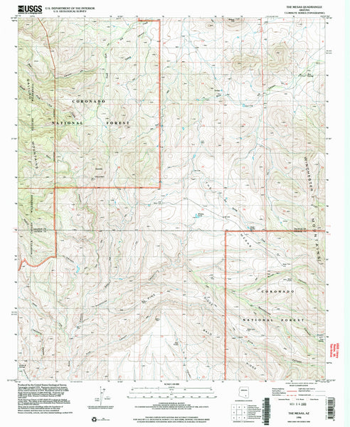 us topo - THE MESAS, Arizona 7.5' - Wide World Maps & MORE! - Map - Wide World Maps & MORE! - Wide World Maps & MORE!