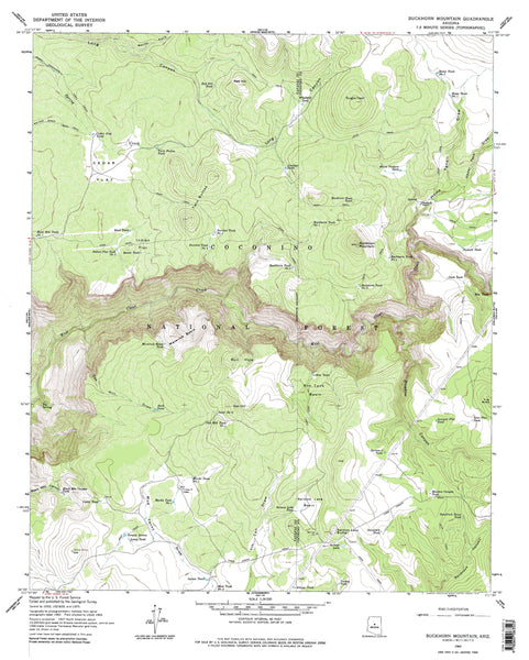 Buckhorn Mountain, AZ (7.5'×7.5' Topographic Quadrangle) - Wide World Maps & MORE! - Map - Wide World Maps & MORE! - Wide World Maps & MORE!