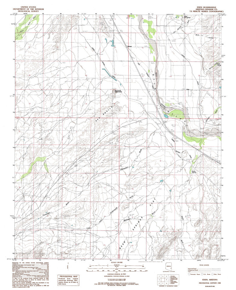us topo - EDEN, Arizona 7.5' - Wide World Maps & MORE! - Map - Wide World Maps & MORE! - Wide World Maps & MORE!