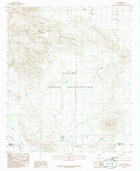 KAKA, Arizona (7.5'×7.5' Topographic Quadrangle)