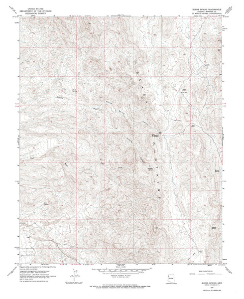 us topo - BURNS SPRING, Arizona 7.5' - Wide World Maps & MORE! - Map - Wide World Maps & MORE! - Wide World Maps & MORE!