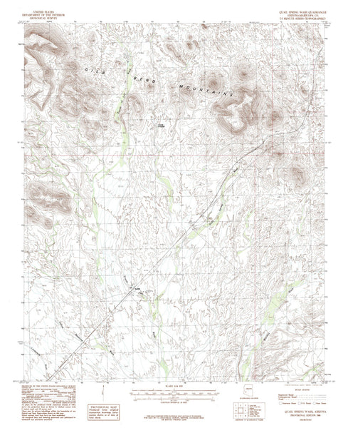 us topo - QUAIL SPRING WASH, Arizona 7.5' - Wide World Maps & MORE! - Map - Wide World Maps & MORE! - Wide World Maps & MORE!