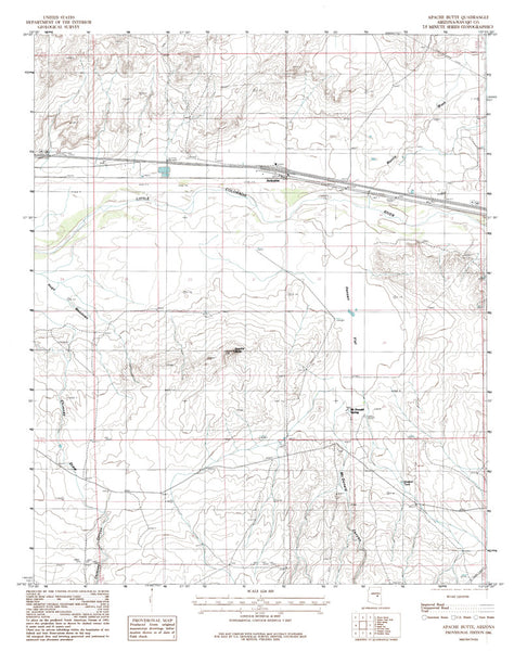 us topo - APACHE BUTTE, Arizona 7.5' - Wide World Maps & MORE! - Map - Wide World Maps & MORE! - Wide World Maps & MORE!