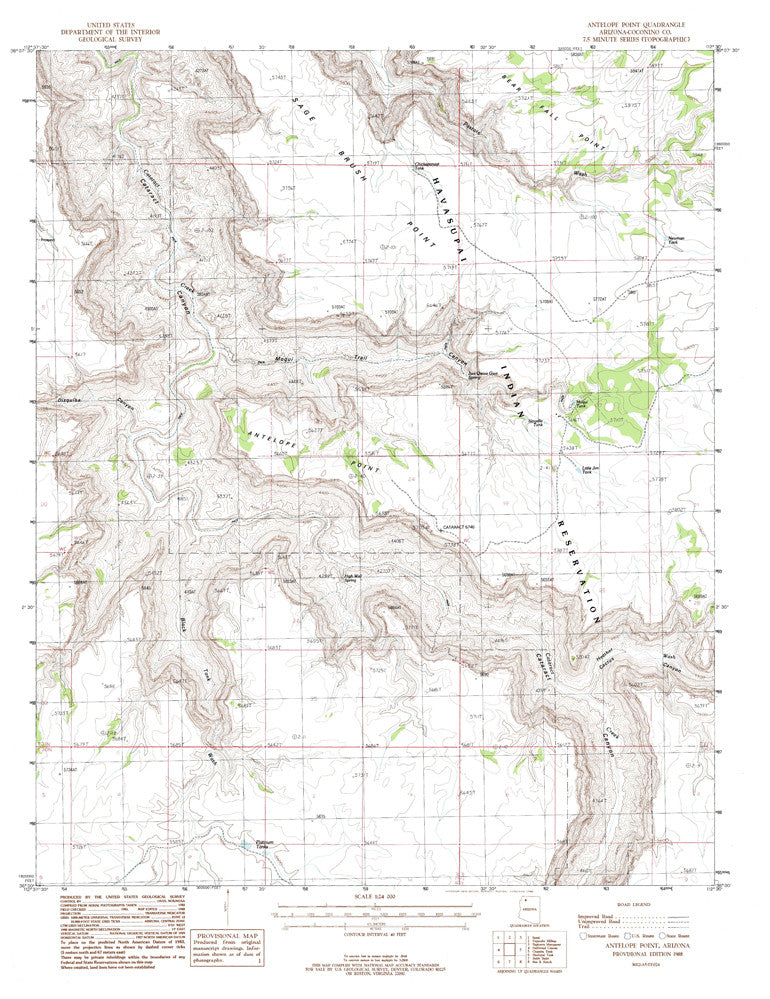 ANTELOPE POINT, Arizona 7.5' - Wide World Maps & MORE! - Map - Wide World Maps & MORE! - Wide World Maps & MORE!